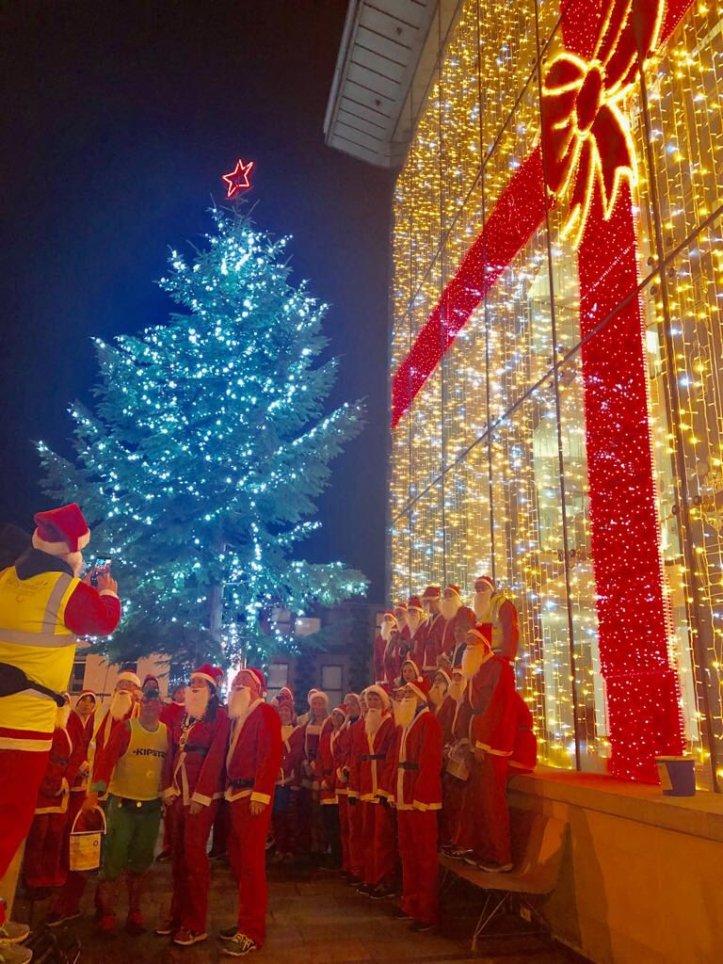 Santas at The Braid