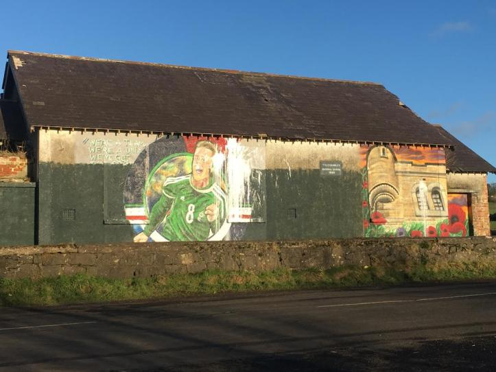 Paintbomb attack on mural of Northern Ireland football team captain Steven Davis4